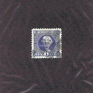 SC# 115, USED, 6C WASHINGTON,1869, LIGHT CORK CNL, 2019 PSAG CERT GRADE XF-S 95J