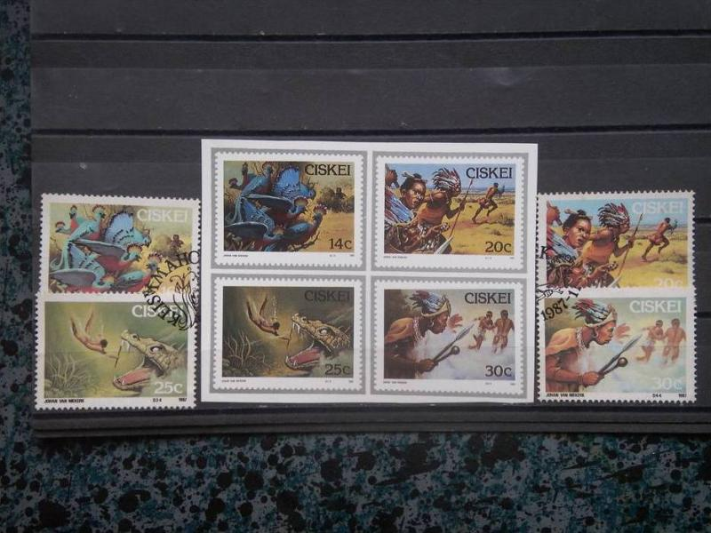 CISKEI, 1987, CTO set, Folklore, Scott 114-117