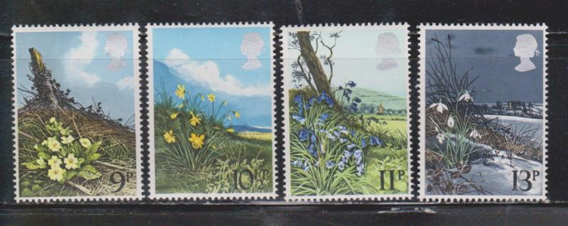 Great Britain Scott # 855-8 Mint Never Hinged - British Wild Flowers