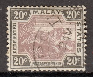 Malaya - Scott #66 - Used - Pulled perf, some toning - SCV $1.75