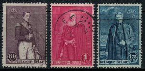 Belgium #218-20  CV $2.30