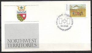1984 Canada 1025 Canada Day:  Northwest Territories FDC