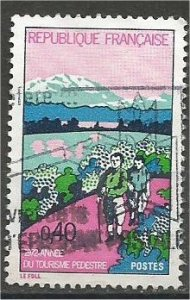 FRANCE, 1972 used 40c, Hikers, Scott 1349