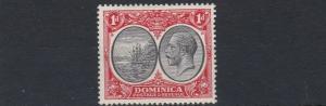 DOMINICA  1923 - 33   S G  73    1D   BLACK  & SCARLET    MH