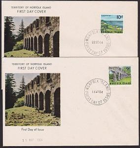 NORFOLK IS 1964 9d & 10d Views on FDCs......................................4554