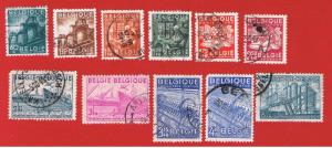 Belgiuym #373-384 VF used  Various scenes Free S/H
