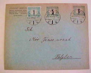 HUNGARY  POSTGE DUES 1915 SZATMAR USED FOR POSTAGE