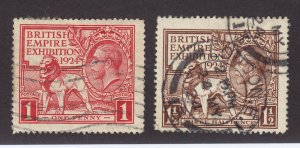 GB Scott # 185 - 186 Set VF used neat cancels nice color cv $ 30 ! see pic !