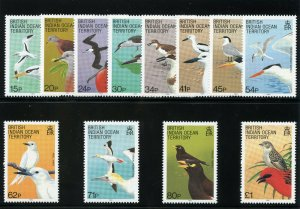 B.I.O.T. 1990 QEII Birds set complete superb MNH. SG 90-101. Sc 94-105.