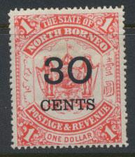 North Borneo SG 90 MH   OPT see details & scans