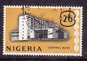Nigeria-Sc#110- id5-used 2sh6p-Central bank-1961-