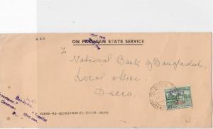 Bangladesh Overprints on Pakistan Stamps Cover ref R17595