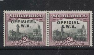 South West Africa SG O11 Horizontal Pair MNH (12dwc)