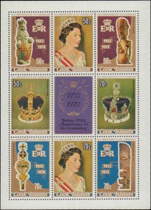 1978 Cook Islands #487e, Complete Set, Souvenir Sheet Only, Never Hinged