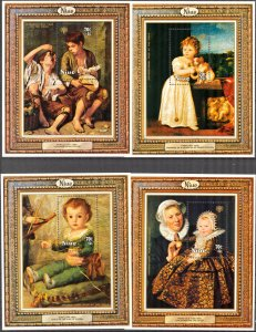 Niue 1979 Art Paintings Year of Child 4 S/S MNH