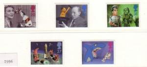 Great Britain Sc 1698-02 1996  Childrens TV stamps mint NH