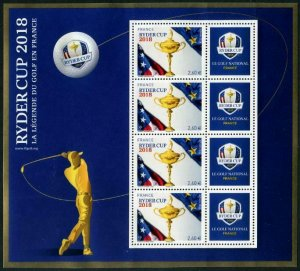 HERRICKSTAMP NEW ISSUES FRANCE Ryder Cup 2018 S/S (New Value)