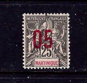 Martinique 102 MH 1912 surcharge