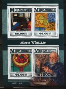 MOZAMBIQUE 2015 TRIBUTE TO HENRI MATISSE  SHEET MINT NEVER HINGED