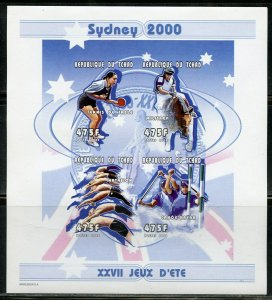 CHAD SYDNEY  OLYMPIC GAMES 475fr  IMPERF SHEET MINT NH