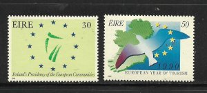 IRELAND, 763-764, MNH, EUROPEAN YEAR OF TOURISM