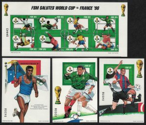 Micronesia World Cup Football Championship France 8v+3 MSs SG#599-MS607