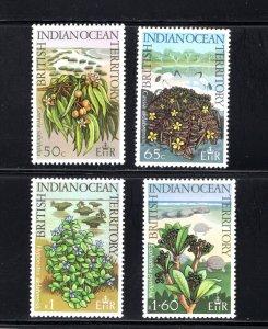 British Indian Ocean Territory, Scott 78-81  VF,  Unused, CV $3.30 .... 0870037