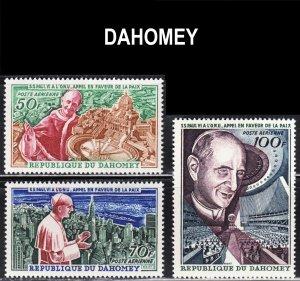 Dahomey Scott C39-41 F to VF mint OG NH.