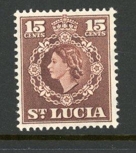 St. Lucia 165 MH 1954