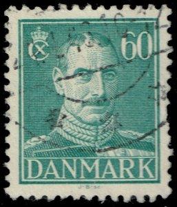Denmark #287 King Christian X; Used (3Stars)
