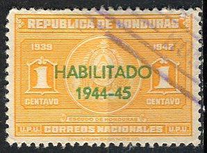Honduras; 1944: Sc. # 342: O/Used Single Stamp