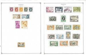 Nigeria Mint & Used Hinged on Scott Int. Pages 1941-1999