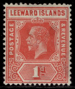 LEEWARD ISLANDS GV SG83, 1d bright scarlet, LH MINT. Cat £45.