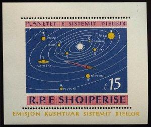 01817 Albania Scott #786 Planets space souvenir sheet mint hinged