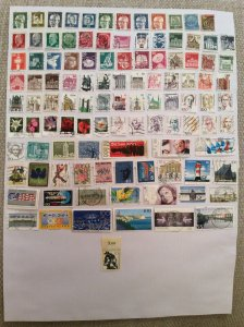 German 100+ stamps - Lot X