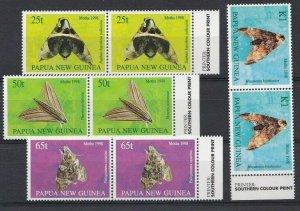 PNG449) Papua New Guinea 1998 Moths MUH