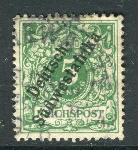GERMAN COLONIES  SW. AFRICA;  1897 classic Optd. issue fine used 5pf. Shade