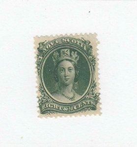 NOVA SCOTIA (MK4858) # 11  VF-MH  8 1/2cts  QUEEN VICTORIA /GREEN CAT VALUE $20