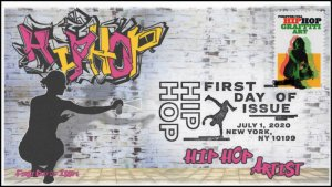 20-139, 2020, SC 5482, Hip Hop, Pictorial Postmark, First Day Cover, Artist
