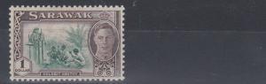 SARAWAK  1950  S G 183  $1  GREEN & CHOCOLATE   MH