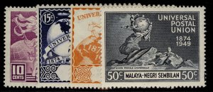 MALAYSIA - Negri Sembilan GVI SG63-66, anniversary of UPU set, NH MINT.