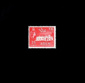 ADEN - 1956 - QE II - MOSQUE - # 51a - ARCHITECTURE - MINT - MNH SINGLE!