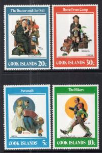 Cook Islands 683-685 Norman Rockwell MNH VF