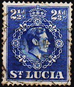 St.Lucia. 1938 2 1/2d S.G.132a Fine Used
