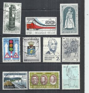 TEN AT A TIME - BELGIUM - POSTALLY USED COMMEMORATIVE 55