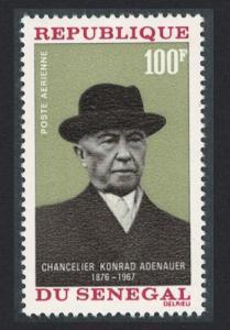 Senegal Chancellor Adenauer 1968 MNH SG#368