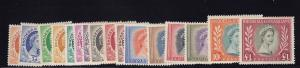 Rhodesia & NY Scott # 141 -155  set VF OG lightly hinged cv $ 135 ! see pic !