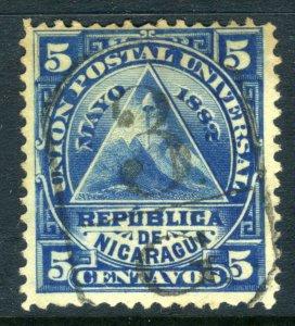 Nicaragua 1882 ⭐ 1st ABNC Issue ⭐ 5¢ ⭐ Cancel 3G - Granada ⭐ R140 ⭐☀⭐☀⭐☀⭐