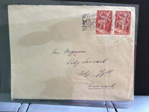 Netherlands 1948 to Denmark stamp cover R31654