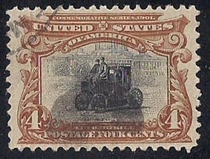 #296 4 cents Pan American Issues Stamp used EGRADED VF 78